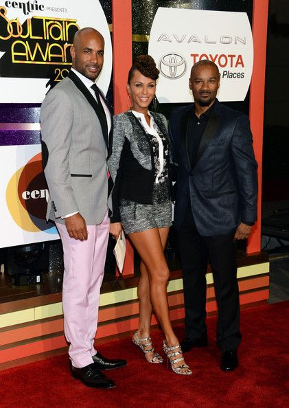 Nicole Ari Parker Photos Photos - (L-R) Actor Boris Kodjoe, actress Nicole Ari Parker and TV/radio personality Big Tigger attend the Soul Train Awards 2013 at the Orleans Arena on November 8, 2013 in Las Vegas, Nevada. - Arrivals at the Soul Train Awards