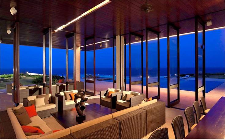 Modern indoor/outdoor space.