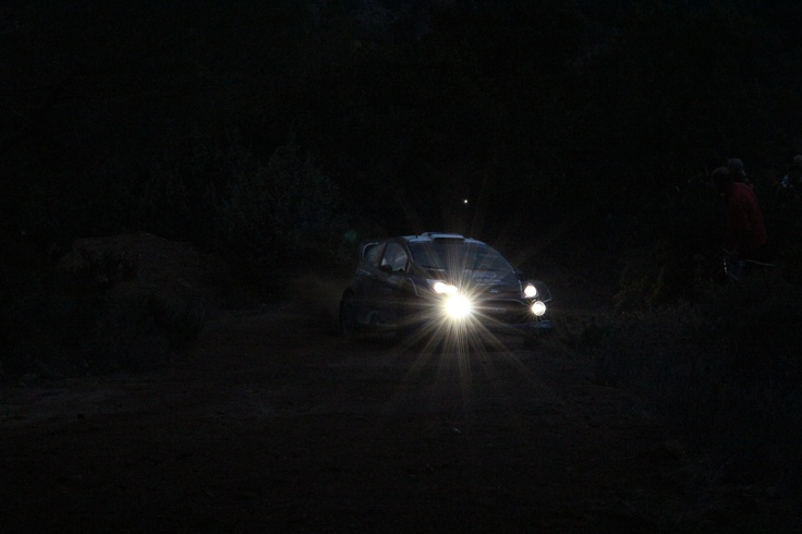 WRC Sardinia 2012 - Night Action Drift Ford Fiesta