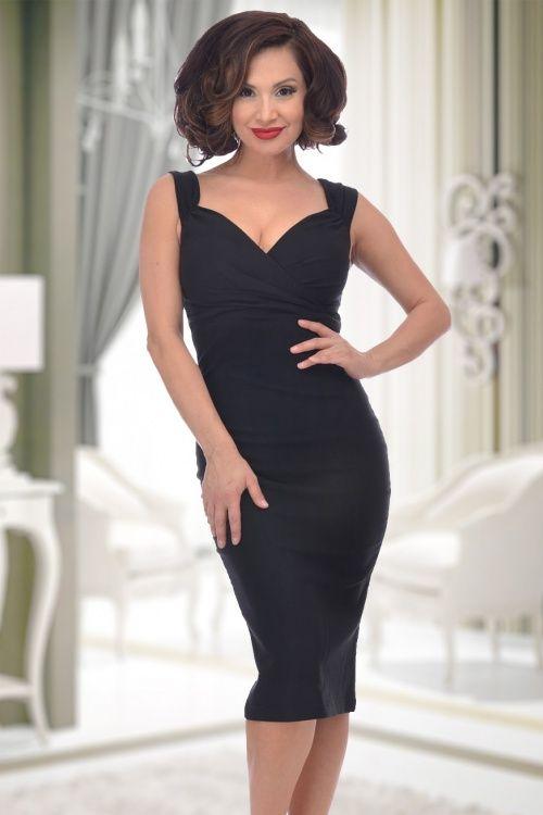 Rock Steady Clothing The Diva Pencil Dress Black 100 10 15083 4