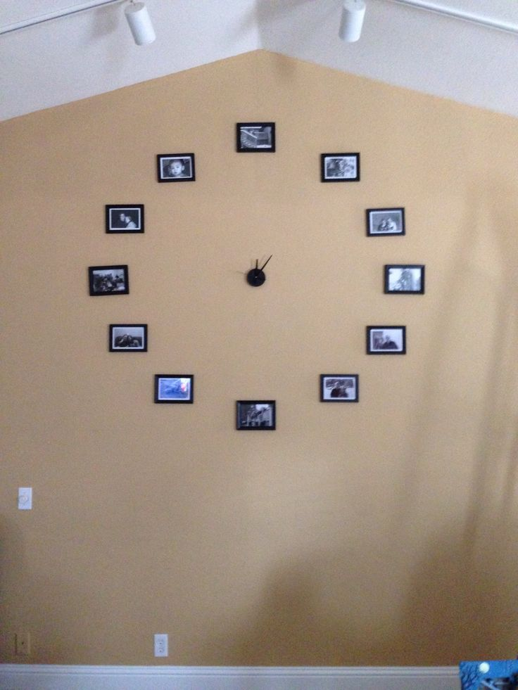 Finished picture wall clock!