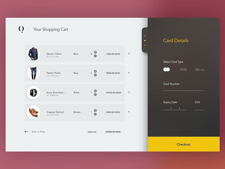 Simple Shopping Cart with Checkout pane #WebsiteShoppingCart