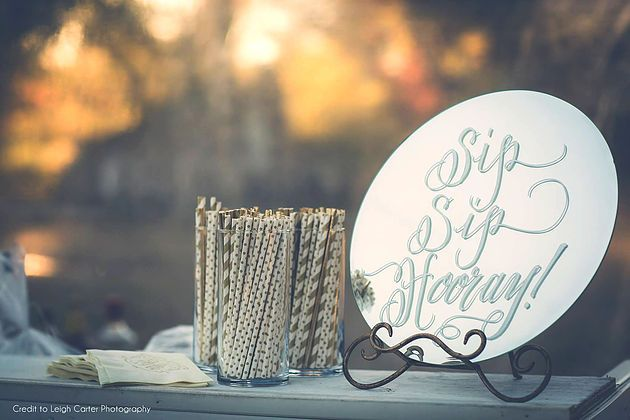 Sip Sip Hooray Mirror Calligraphy by Beth Hunt Calligraphy | Oxford, Mississippi  #Moderncalligraphy #calligraphy #brushlettering #lettering #weddings #events #bride #mirror #delta #clarksdale #jackson #oxford #mississippi