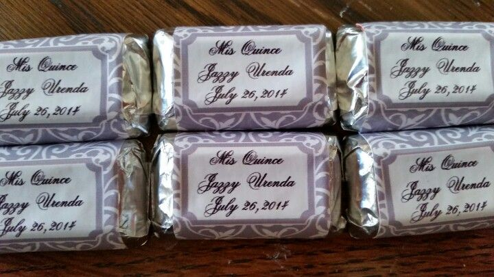 Min chocolate bars For the candy bar. Jazzy's Quince