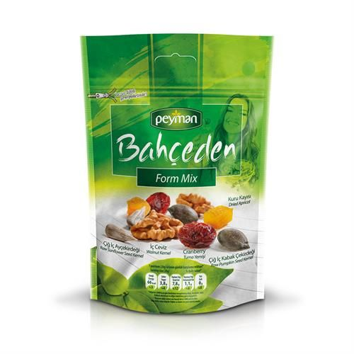 Bahçeden Form Mix  - Dried Apricot, Raw Pumpkin / Sunflower Seed Kernel, Cranberry, Walnut Kernel