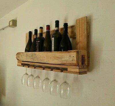 70 best images about reusepalletart creazioni on pinterest industrial wooden shelves and winerack - Porta vino da parete ...
