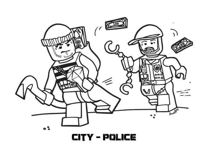 Lego City Police Chase Coloring Page Lego City Police Lego