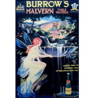 Vintage Malvern Water poster