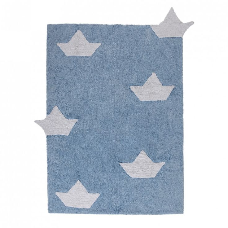 For little sailors!  Carpet for children's rooms: delicate and soft touch texture May be cleaned in a washing machine! 100% natural cotton, handmade Non-toxic dyes, manufactured under ISO and AITEX standards