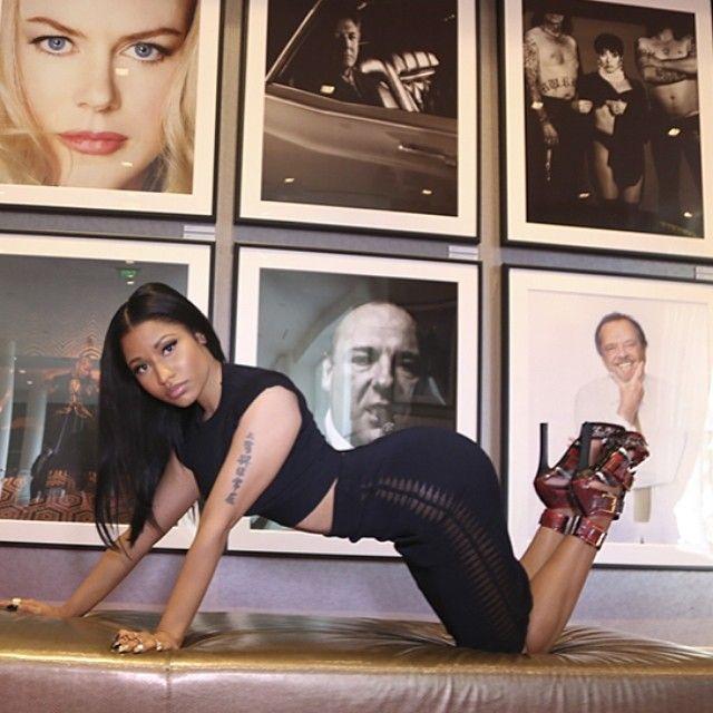 Nicki Minaj's Instagram Alexander McQueen Spring 2014 Red Snake Buckled Sandals
