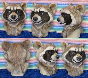 Rocket Raccoon Fursuit Head by LobitaWorks on DeviantArt