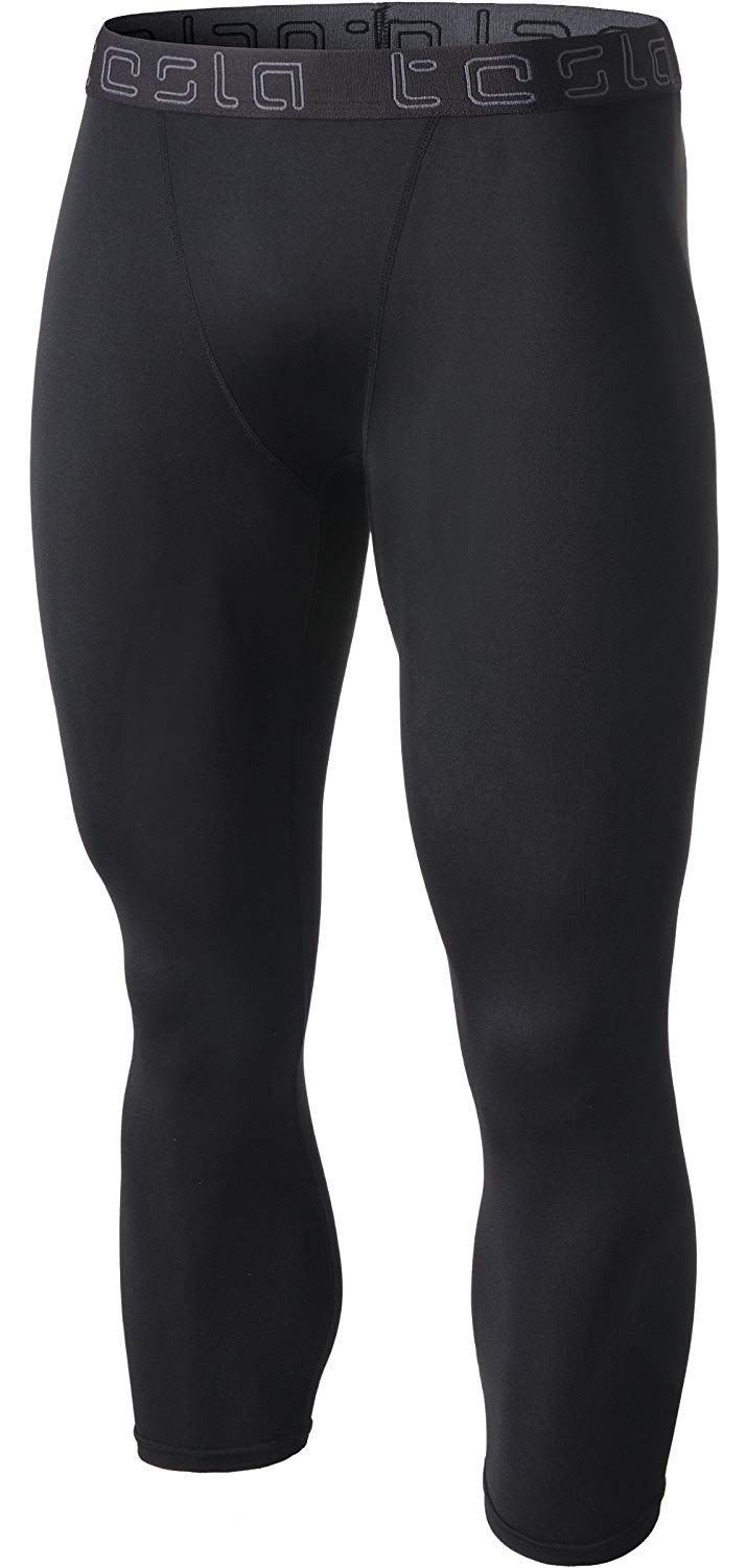 2cae681486 Tesla Men's Compression 3/4 Capri Shorts Baselayer Cool Dry Sports Tights  MUC18/MUC08/P15 ** See the photo link even more details.