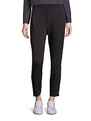 Eileen Fisher Elastic Waist Ankle Length Pants