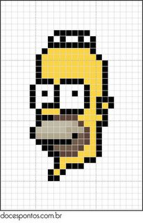 Homer - The Simpsons - hama perler beads