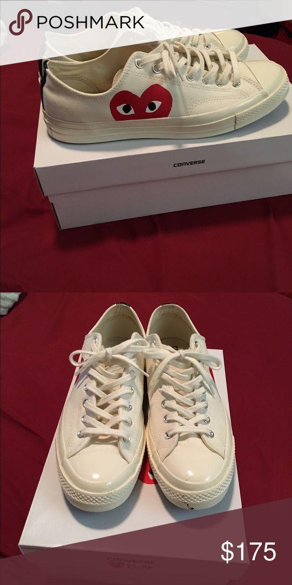 Comme De Garcon Converse Off white shoe with heart faces Comme des Garcons Shoes Sneakers