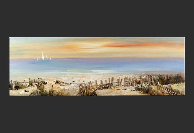 Dipinto a mano su tela spiaggia assolata