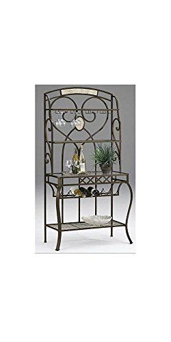 Hillsdale Brookside Baker's Rack  Our Brookside baker's rack features the lustrous depth and beauty of fossilstone and the classic effect of transitional designs. Brown powder coat finish with Fossilstone Brown powder coat finish with Fossilstone Transitional design  http://www.storekitchendining.com/hillsdale-brookside-bakers-rack/