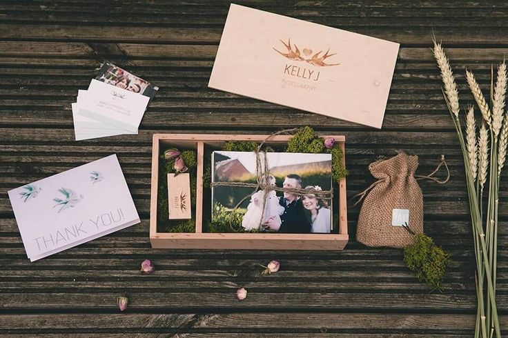 Natural photography packaging for wedding clients. Wedding Photography Packaging and Branding - Wooden USB box