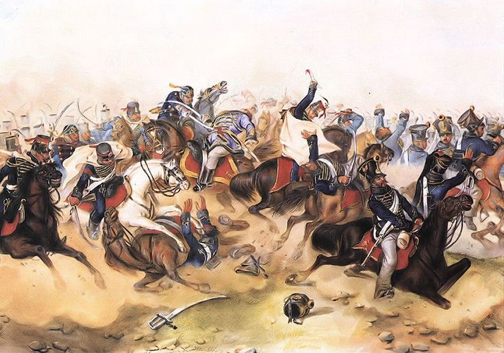 Hussars in battle during the Hungarian Revolution of 1848