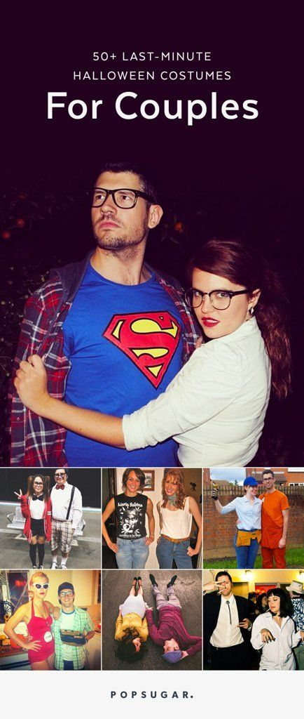 With Halloween on the horizon, we've pulled together 50 examples of the easiest couples costumes you can create with what you already have in your closet. When it comes to spooky holiday attire, keep it simple, silly. From pop culture pairs to new spins on classics, check out these last-minute costume ideas now!