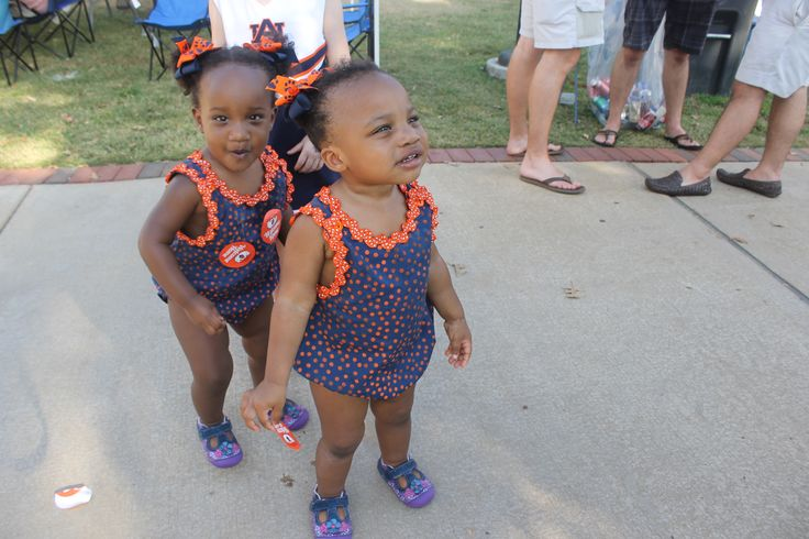 Best Outfit goes to Lillian and Isabel Phillips. These cuties loved our stickers, and they had a good time showing off some dance moves with their mom, Shana Phillips.-Auburn vs. Ole Miss