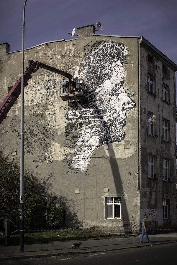 unurth | street art Vhils, Lodz, Poland