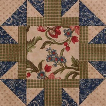Chained Star #quilt block by Sandy Harris