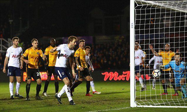 Newport County 1-1 Tottenham: Late Kane goal saves Spurs