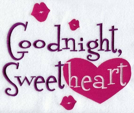 Goodnight Sweetheart Embroidered Waffle Weave Hand Dish Towel Etsy In 2021 Good Night Love Images Good Night Sweetheart Good Night Babe