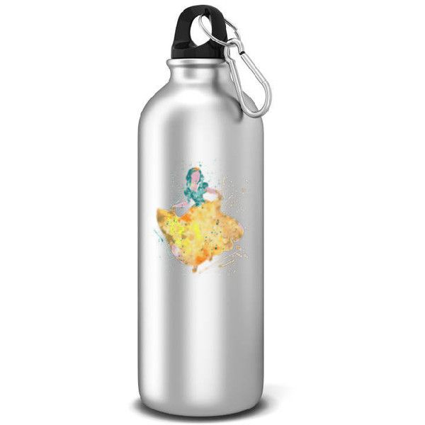 Snow White Sports Water Bottle Disney Inspired Aluminum Water Bottle... ($15) ❤ liked on Polyvore featuring home, kitchen & dining, drink & barware, drinkware, home & living, silver and water bottles & vacuum flasks
