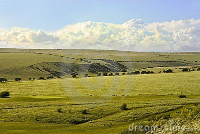 A view of the South Downs, a conservation area in England