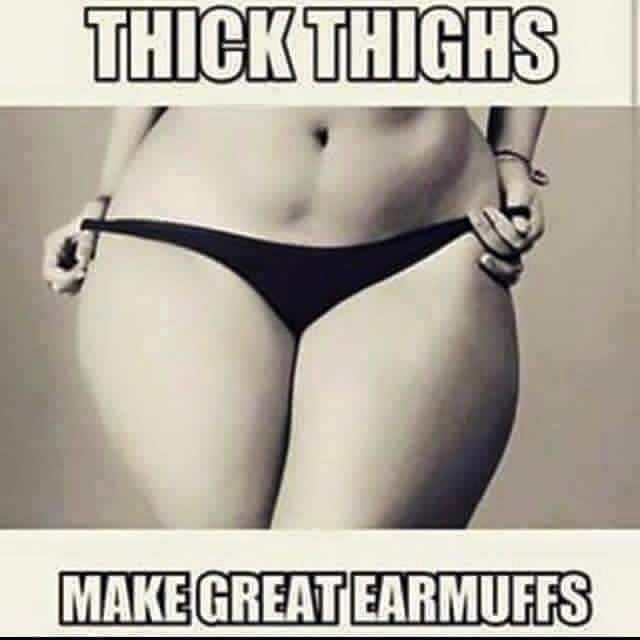 No thigh gap please...