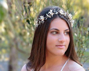 ODELIA  tocado de novia vid de novia accesorios de boda