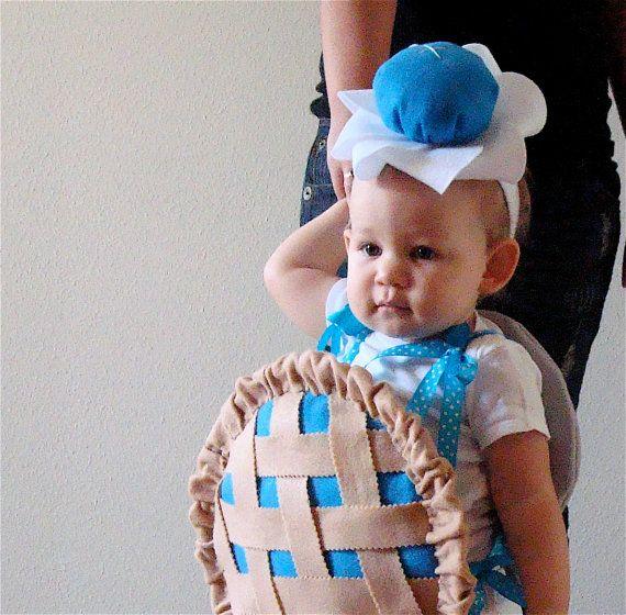 Baby Costume Toddler Costume Pie Halloween Costume Blueberry Cherry Pumpkin Lemon Strawberry. $70.00, via Etsy.