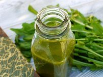 """""""Please Peas Me"""" Evening Green Juice      1 handful of pea greens, pea sprouts, pea shoots, or snow pea pods     1 cup packed spinach     2 leaves of Swiss chard     1 green apple     1/2 or 1 whole lemon (yellow rind removed)     1/2 cucumber"""