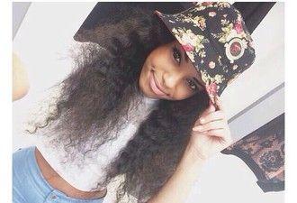 hat floral. bucket hat. floral bucket hat swag streetstyle