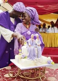 Nigerian Traditional wedding cake