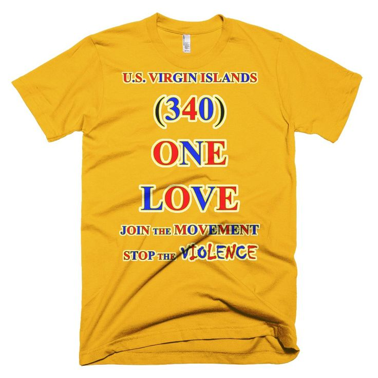 1663-T ... U.S. VIRGIN ISLAND ... Area Code 340 ... ONE LOVE ... T-SHIRT