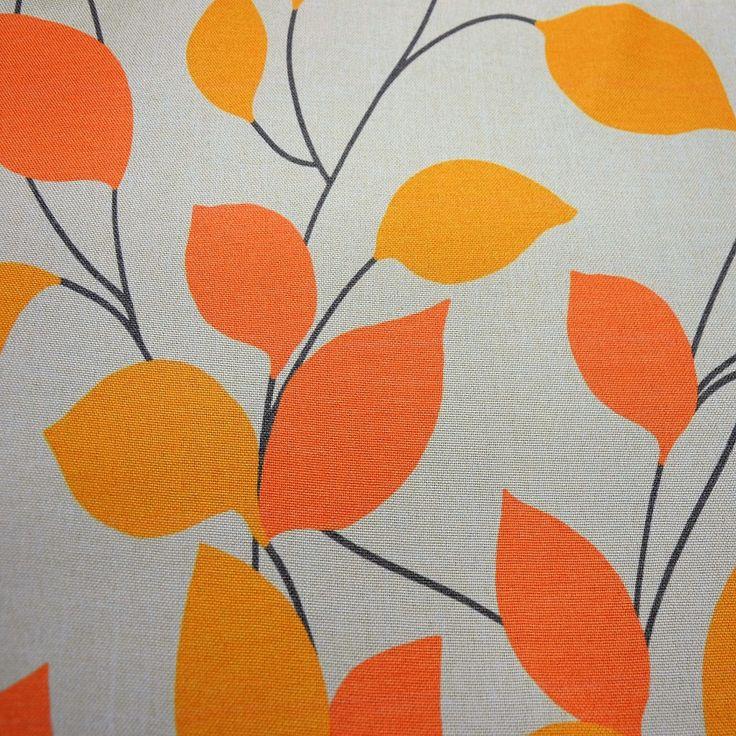 Dekorační látka s lístky - Šíře materiálu (cm): 150, Vyberte šití: bez obšití. Dekorační látka NATURA