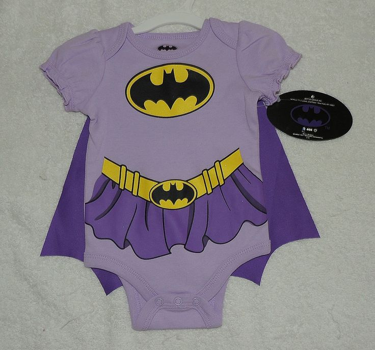 NEW Baby Batgirl, Size 3-6 Months One Piece  w/CAPE, Bodysuit, Baby Shower Gift