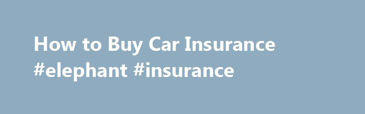How to Buy Car Insurance #elephant #insurance http://poland.remmont.com/how-to-buy-car-insurance-elephant-insurance/  #buy auto insurance # 1. Get Your Declarations Page 2. Shop for Insurance The internet is a great place to do some research for different agencies in your area. Facebook can be a good start when looking for local agencies or you can get quotes online through an individual agency website or through a direct insurance carrier. If the internet is not your thing, a local phone…