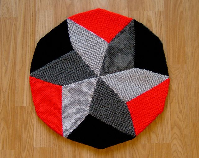 Dodecagon Thing - Cushion or afghan with an interesting geometric tessellation