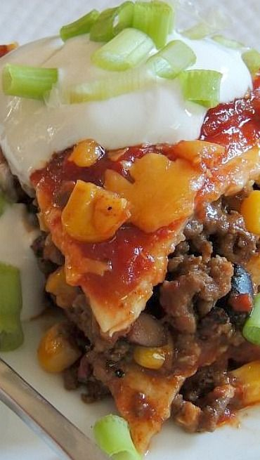 Loaded Taco Bake. i can never get enough Mexican food... i'll have to stock up on some TVP and make a big dish of this soon.