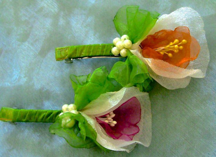 HOW TO MAKE ROLLED RIBBON ROSES- fabric flowers-Fivela com Flor de  Orga...