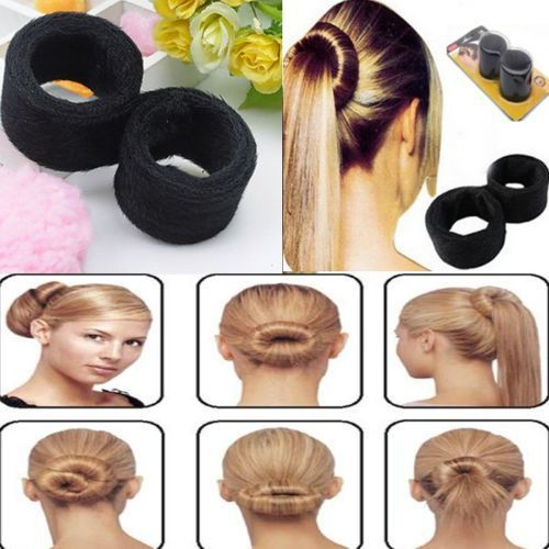 1Pcs Useful French Hair Womens Wrap Fold Snap Bun Maker Hair Styling Curler Tool Accessories Braider Tools~NA468