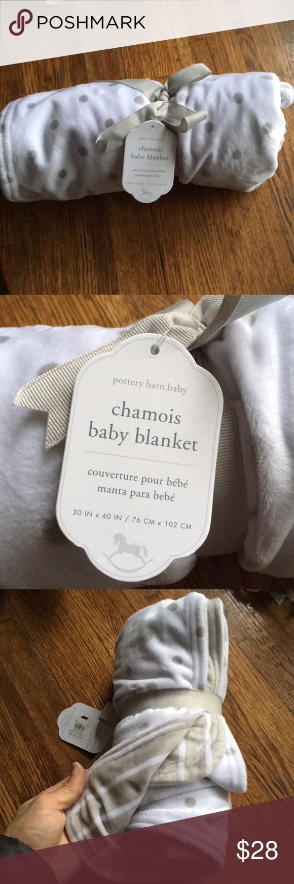 Baby Chamois Blanket by Pottery Barn Kids New with tags