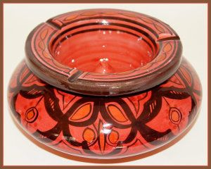 Smokeless Ashtray By Treasures of Morocco This Ceramic Ashtray are very good for cigar smokers as it is big. It measures 8.5 in W x 5.5 in H. It is an authentic, handcrafted Moroccan Ashtray. http://theceramicchefknives.com/ceramic-ashtray-lid/
