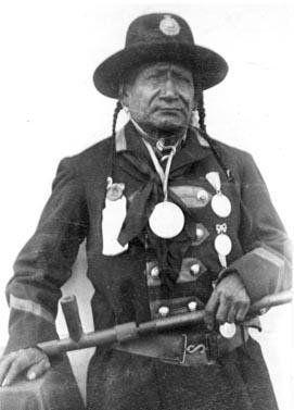 Red Crow - Blackfoot (Kainai) head chief - 1892. One of the signatories of Treaty 7 in Canada. JE
