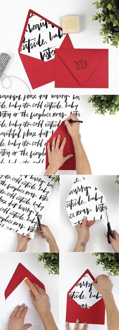Una idea sencillamente original para hacer sobres forrados para tus invitaciones de boda. Escribe tu poema preferido, cópialo y arma tus sobres. Sorprende a tus invitados!