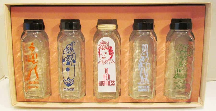 Vintage Samuel Callet Co Glass Baby Bottles Wow